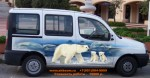 Аэрографии на Fiat Doblo. Белые медведи. Bears to Antarctica Airbrushing.