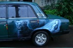 Художественная роспись на автомобиле VAZ-2107