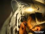 Аэрография  тигр (в процессе)